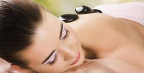 Hot Stone масаж с масло от бразилски билки - на гръб или цяло тяло