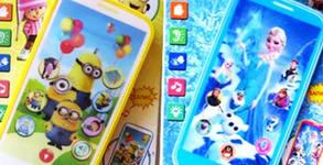 """Детски смартфон """"Миньоните"""" с приказки и песни на български език"""