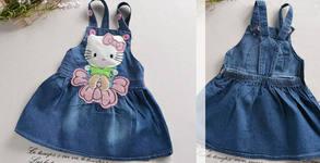 Дънкова рокличка Hello Kitty