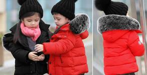 Детско зимно яке с гъши пух, в цвят по избор