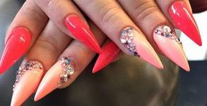 Красиви нокти с избор от над 250 цвята! Маникюр с гел лак, гел върху естествен нокът или ноктопластика, плюс 2 декорации