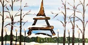 часа рисуване с акрилни бои върху платно под ръководството на художник, плюс чаша вино за възрастен или сок за дете