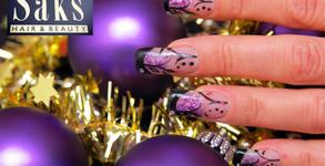 Маникюр с гел лак и декорации, поставяне на гел върху естествени нокти или ноктопластика с гел