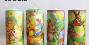 Детска работилница за декупаж на великденски свещи на 24 Април