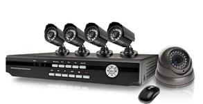 Комплект за видеонаблюдение с 4 броя AHD или 8 броя IR камери