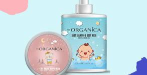 Натурална грижа за най-малките! Бебешки шампоан за коса и тяло, плюс крем против подсичане