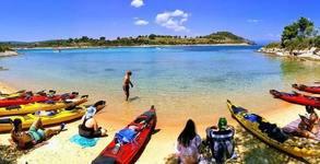 Каяк приключение на остров Тасос! Екскурзия с 2 нощувки в къмпинг, плюс транспорт