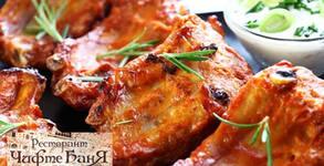 1.49кг плато на скара - свински гърдички и ребърца, кюфтенца и пилешки крилца