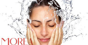 Почистване на лице с водно дермабразио, криотерапия и биолифтинг на околоочен контур