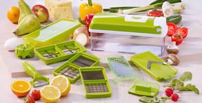 Практичен подарък! Кухненско ренде Nicer Dicer Plus с 19 части - произведено в Германия