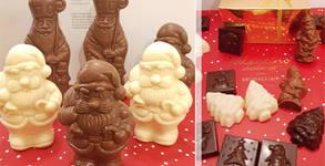 Комплект шоколадови коледни фигурки по избор