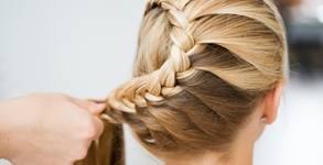 Прическа с плитки, боядисване на коса с боя на клиента или кичури