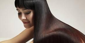 Кератинова терапия за коса или ламиниране и боядисване, плюс подстригване и прическа