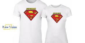 Подарък за Свети Валентин! Комплект мъжка и дамска тениска - размер и дизайн по избор