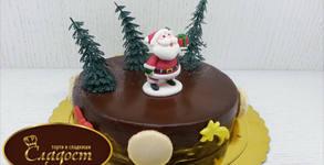 Коледна торта с декорация