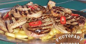 2кг апетитно хапване! Свински вратни пържолки, плюс пържени картофки