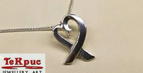 """Сребърно колие или обеци """"Малко любовно сърце"""" - ръчно изработени от майстор ювелир"""