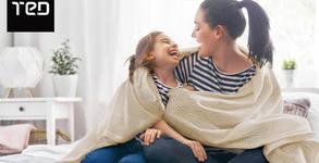 Памучно одеяло с ажурена плетка - в цвят по избор и с безплатна доставка