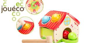 """Подарък за най-малките! Дървена игра Jouéco """"Къща с часовник"""""""