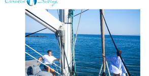 Морско забавление край Стария Несебър! 2 часа разходка с луксозен катамаран, плюс напитка по избор и възможност за плуване