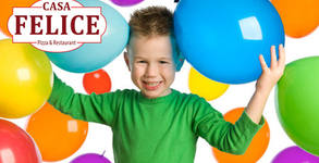 Рожден ден за до 5 деца с меню по избор, аниматор и кът за игри