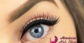 Перманентна очна линия с висококачествен пигмент - фина или опушена, плюс ретуш