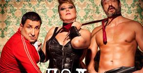 """Албена Колева, Тончо Токмакчиев и Кирил Ефремов в комедията """"Мъже под чехъл"""" на 26 Октомври"""