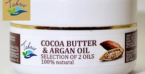 За по-траен тен! Натурално какаово масло с арганово олио