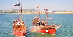120-минутен круиз с пиратски кораб и морска битка във Варненския залив - на 15 Август, с включени пица и напитки