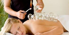 Вендузотерапия и лечебен масаж на гръб