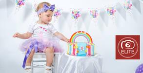 Фотосесия за детски рожден ден с 5 или 15 обработени кадъра - в студио или на открито