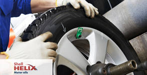 Смяна на 2 гуми на автомобил