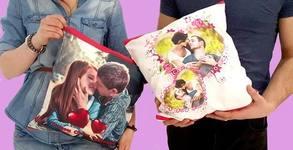 Декоративна възглавничка с ваша снимка, размер по избор