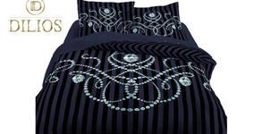 Единичен спален комплект от памучен сатен, в цвят по избор