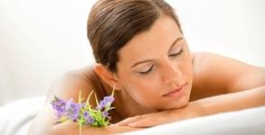 Лечебен масаж на гръб, рамене и врат и ултразвуковата терапия с магнезиев гел, или релаксиращ масаж на цяло тяло