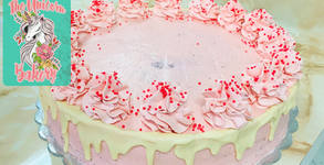 2.5кг сладост! Торта с мус от плодов крем с 16 парчета