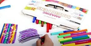25 броя разноцветни магически маркери Marvin's Magic