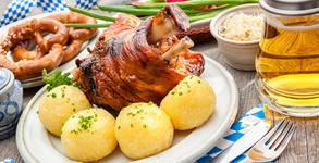 Джолан на пещ, с гарнитура печени картофки
