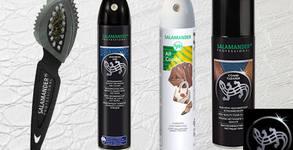Комплект Salamander Professional за поддръжка на изделия от кожа, велур, набук и текстил