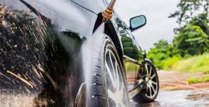 Външно измиване на лек автомобил, плюс вакса
