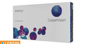 6 броя контактни лещи Biofinity с диоптри по избор
