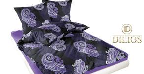Спален комплект от памучен сатен в десен по избор