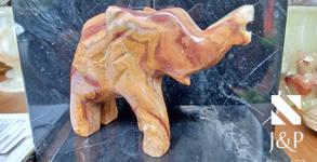 Подарък от естествен оникс от Хималаите - сърце, слонче или ваза