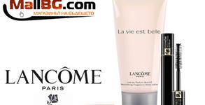 Козметичен комплект за пътуване Lancome - спирала, молив за очи и лосион за тяло