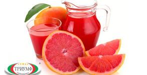 Половин литър прясно изцеден фреш от грейпфрут