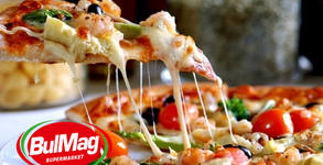 Хапване за вкъщи! 1.5кг фамилна пица Капричоза и 4 напитки по избор, с включена доставка
