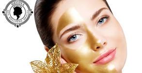 """Лифтинг терапия на лице """"Златен прах"""" със скраб, масаж, серум и маска"""