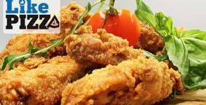"""2кг плато """"Кентъки""""! Хрупкави пилешки крилца и пържени картофи с чедър, с безплатна доставка"""