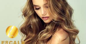 Арганова терапия на коса, полиране и оформяне със сешоар или преса - без или със подстригване