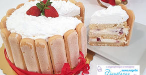 Торта Шарлота Ягода или Шоколад - с 8 парчета